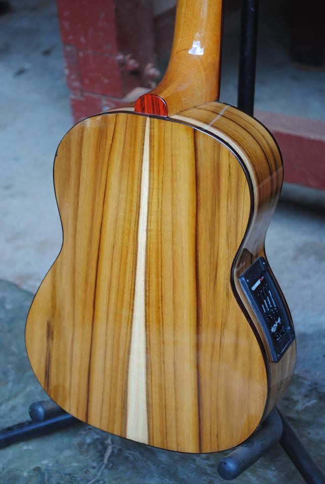 Custom Solid Nicaraguan Teak Tonewood Tenor Ukulele by Pinol w/t